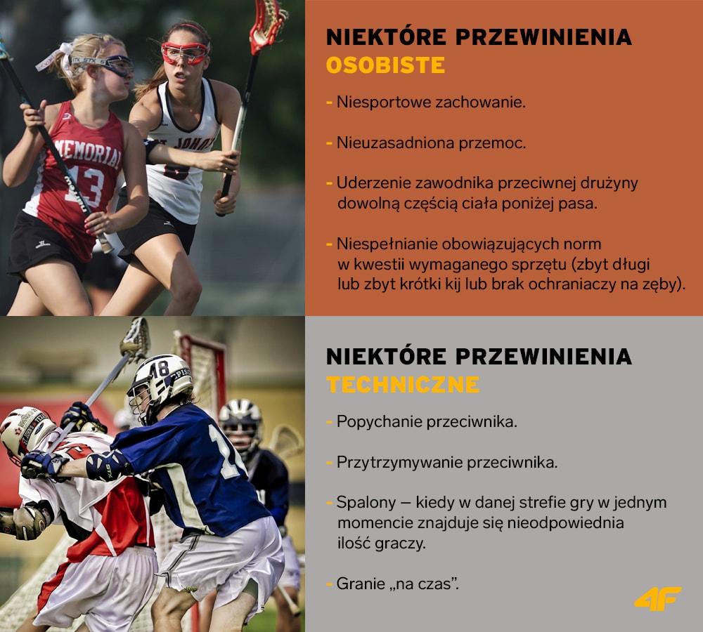 lacrosse - przewinienia osobiste i techniczne