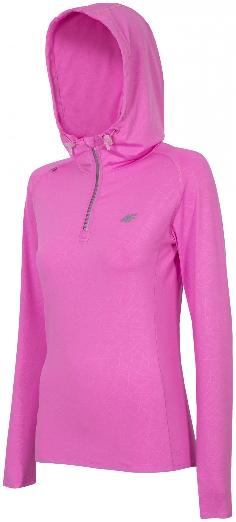 Bluza treningowa damska BLDF001 - neonowy róż