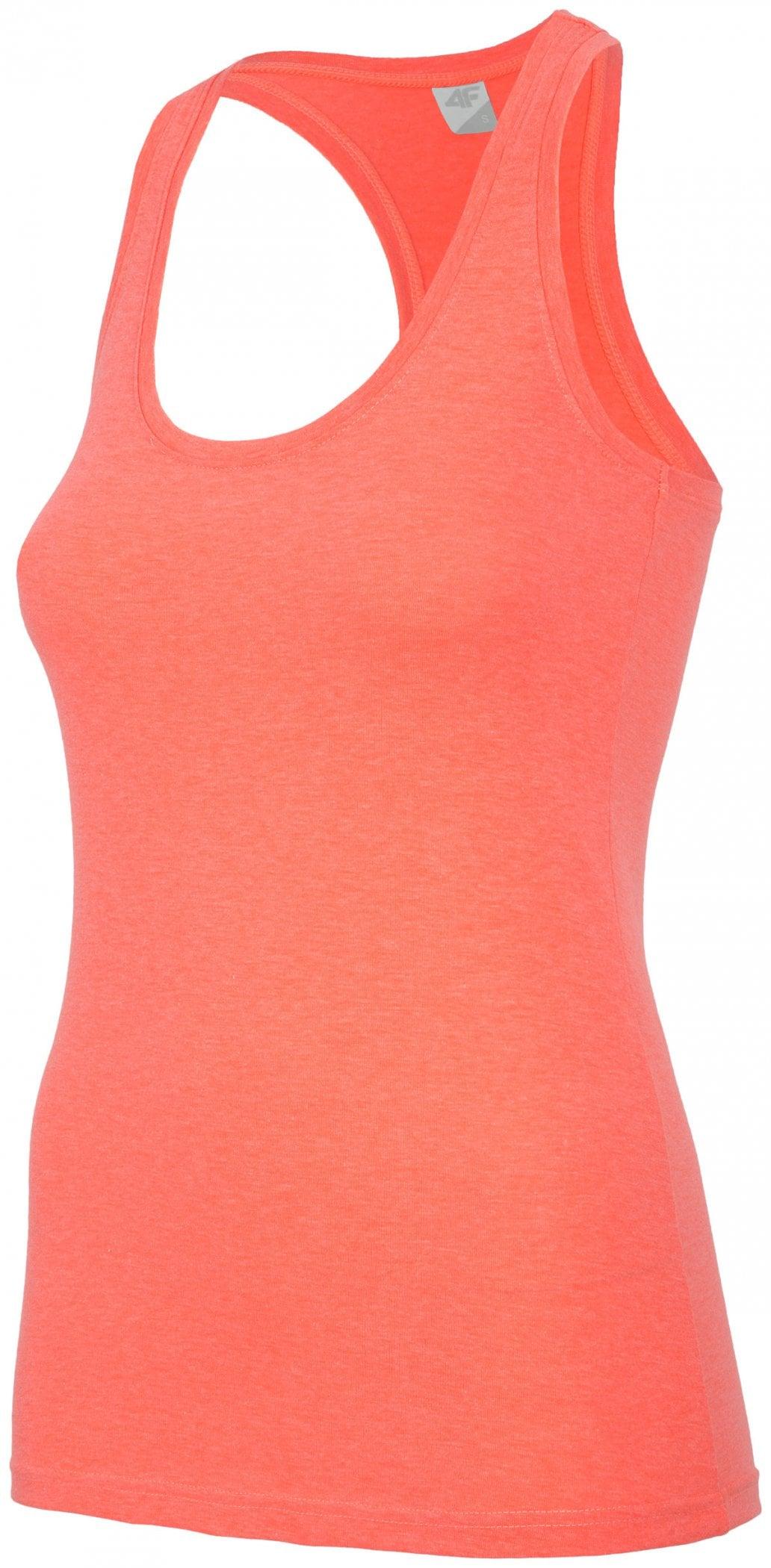 Koszulka bez rękawów damska TSD001- neon koral