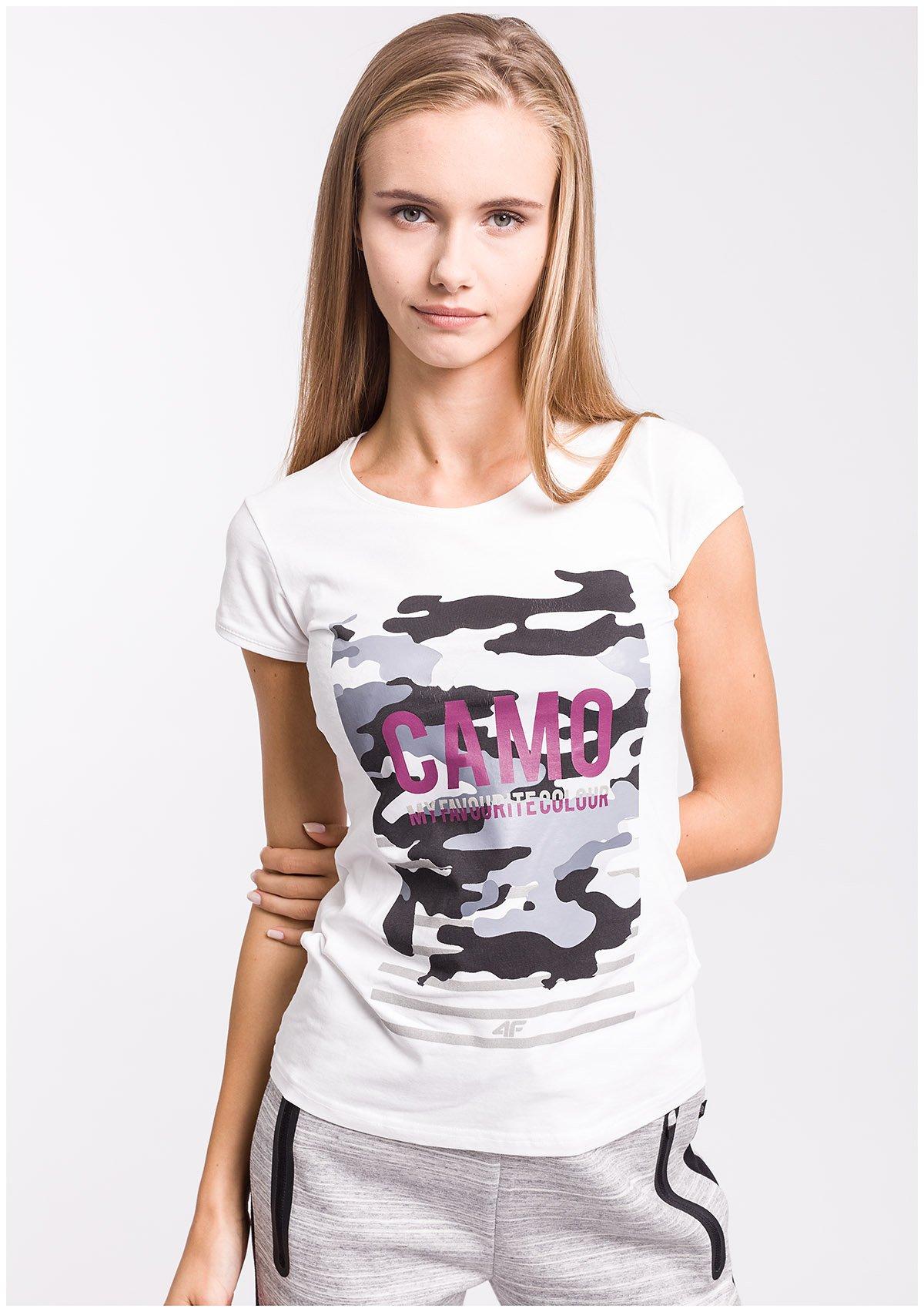T-shirt damski TSD003z - biały