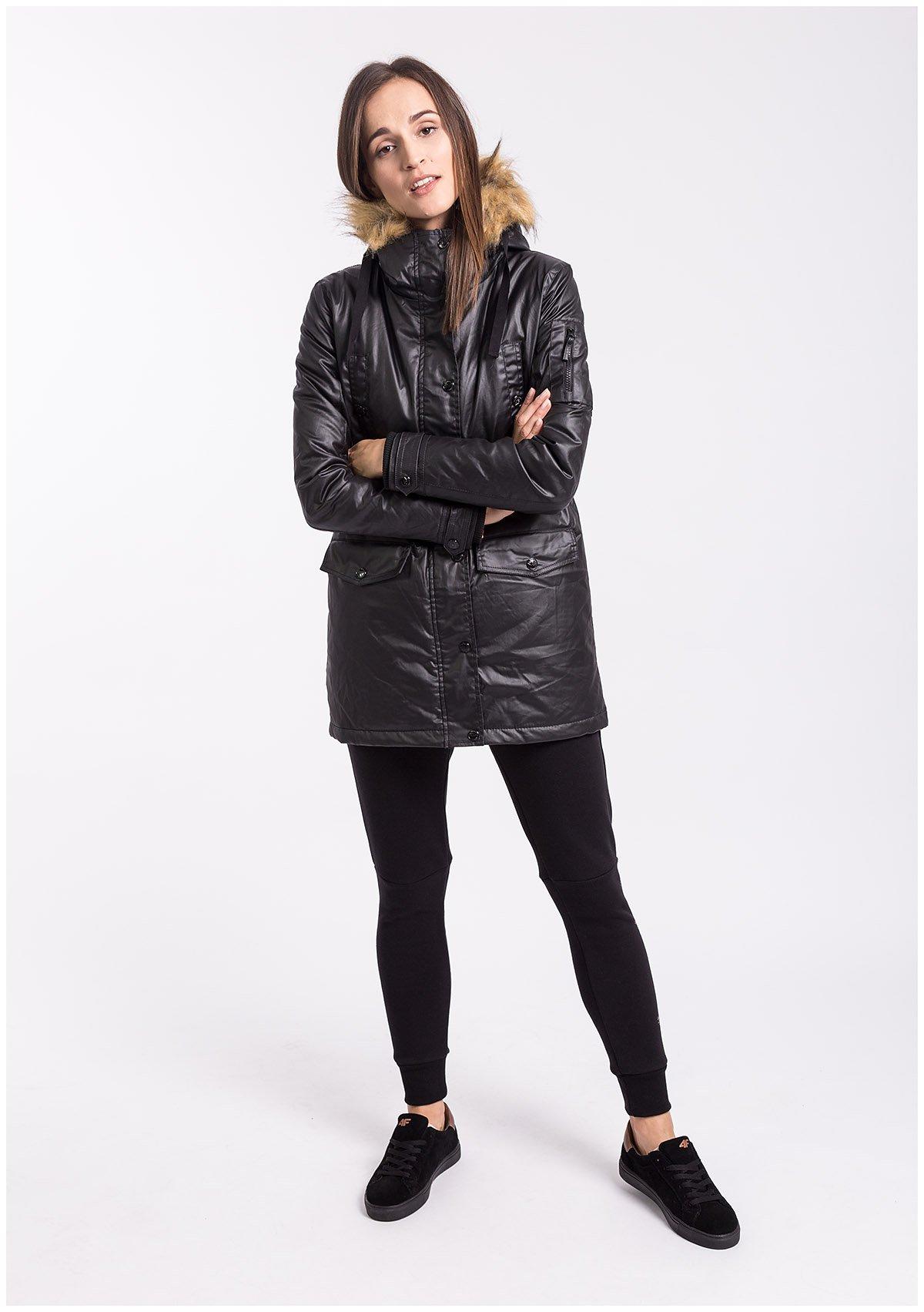 Spodnie dresowe damskie SPDD005Z - czarny