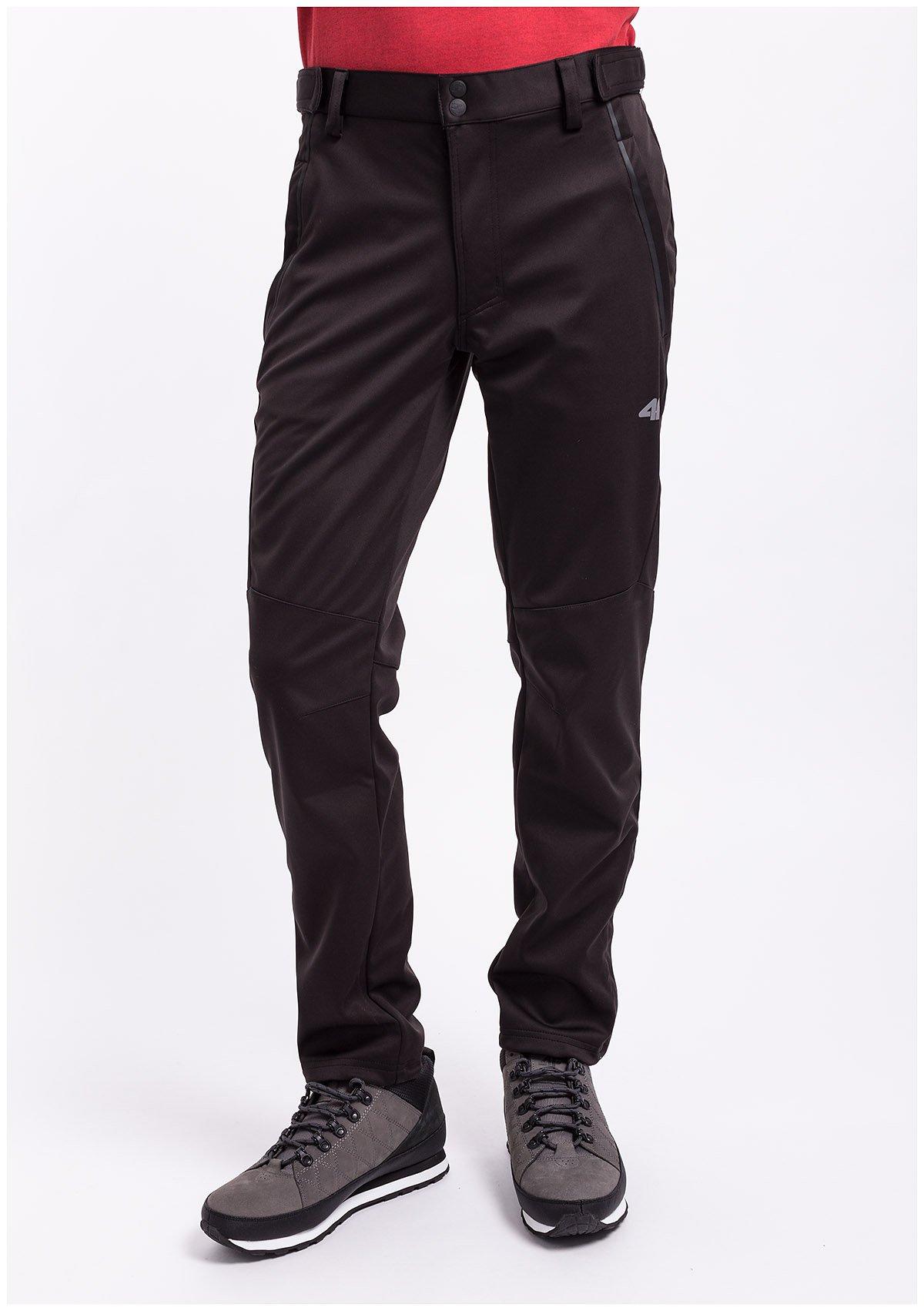 Spodnie trekkingowe męskie SPMT001z czarny