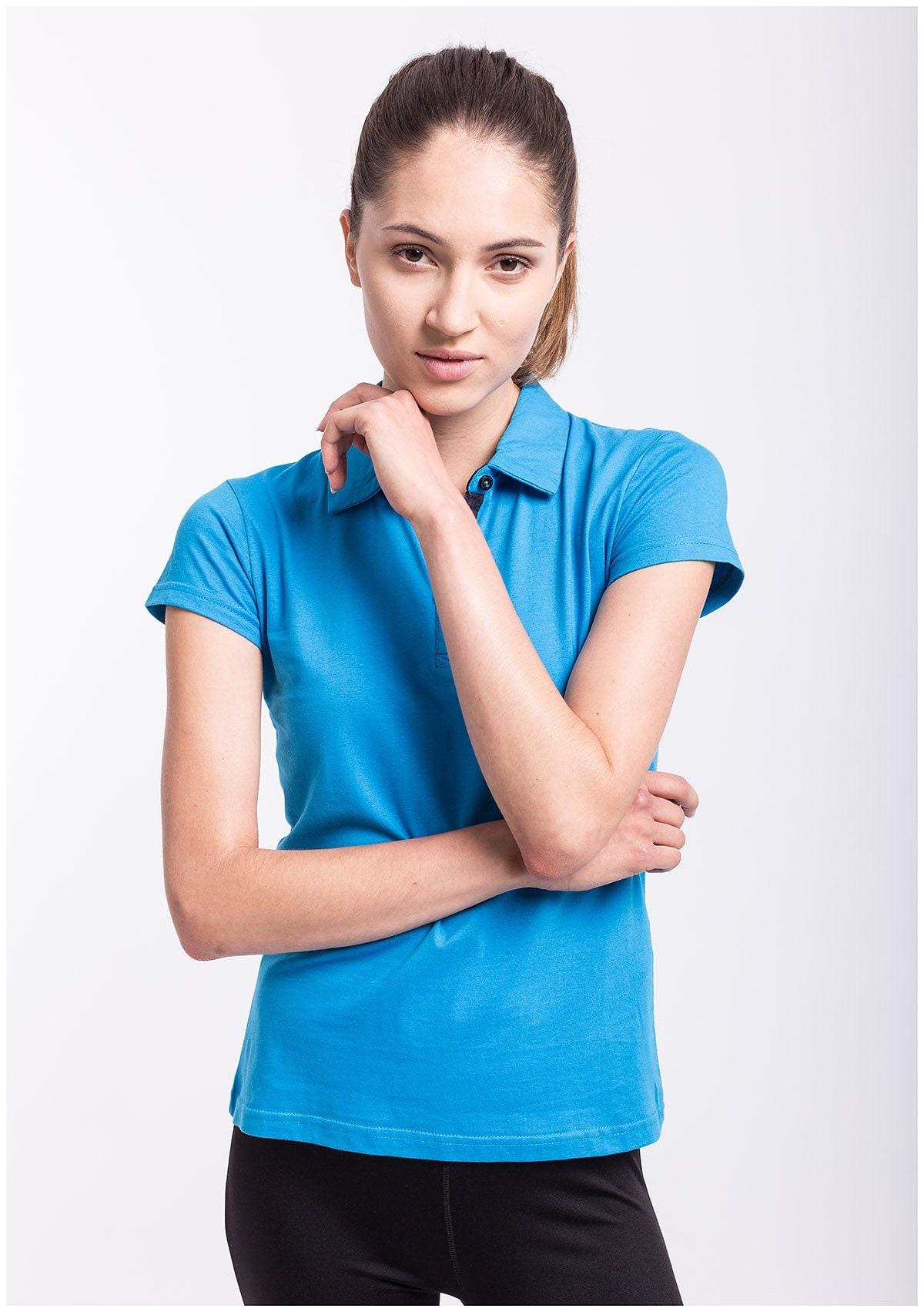 Koszulka polo damska TSD050 - niebieski jasny