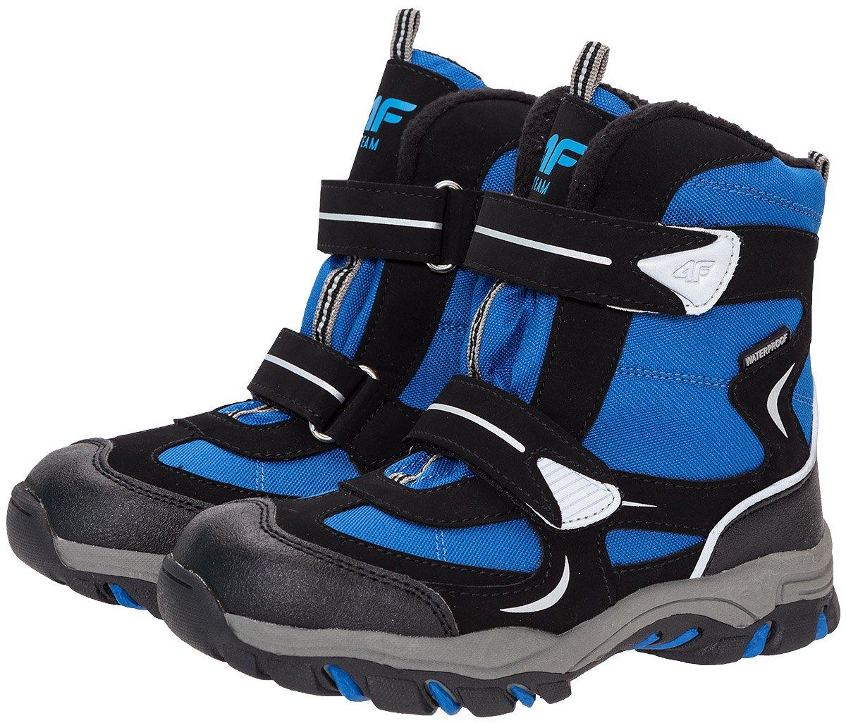 54514829 Buty zimowe dla dużych chłopców JOBMW402Z - niebieski