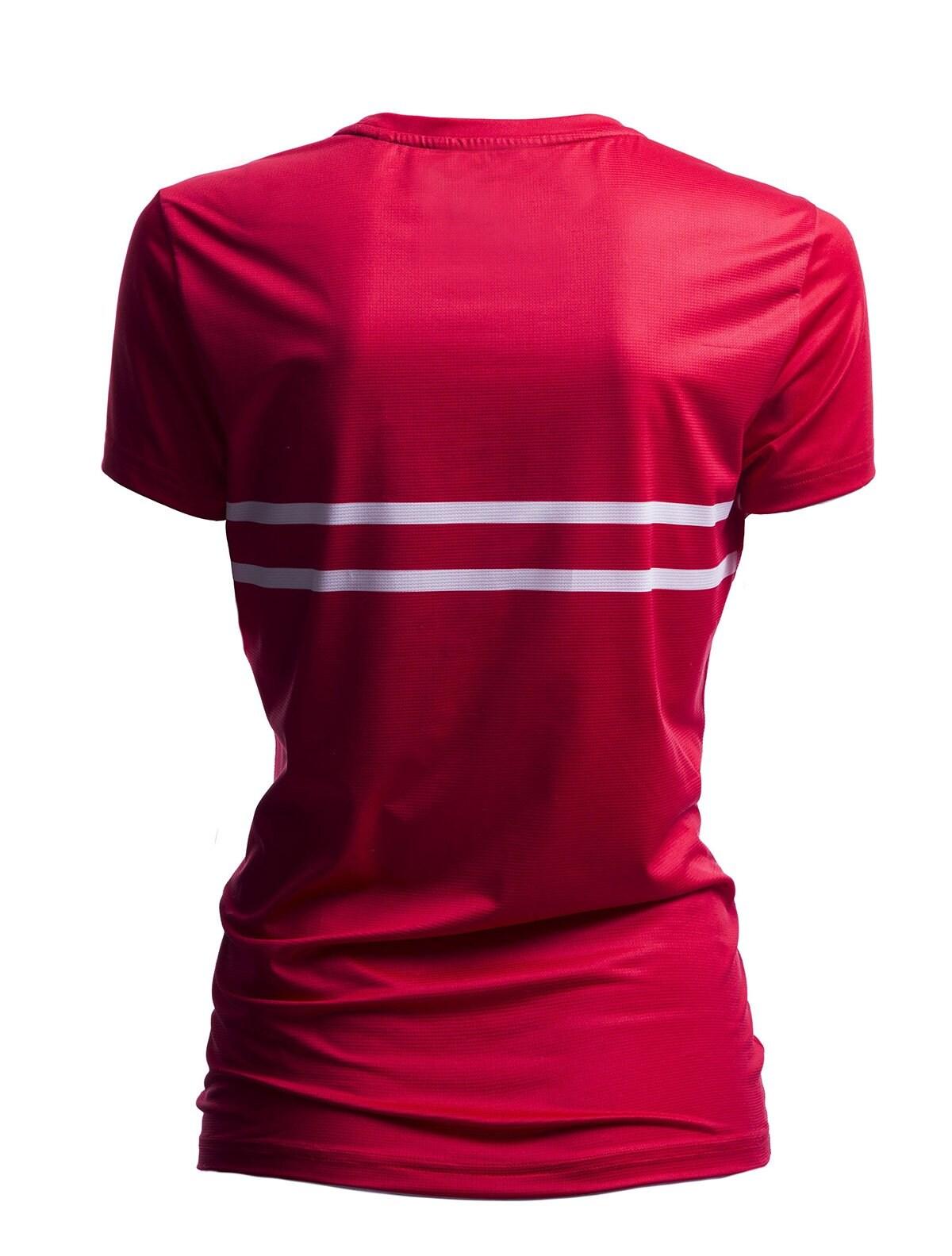 46ff00d75 Koszulka funkcyjna damska Polska Pyeongchang 2018 TSDF900 - czerwony  wiśniowy