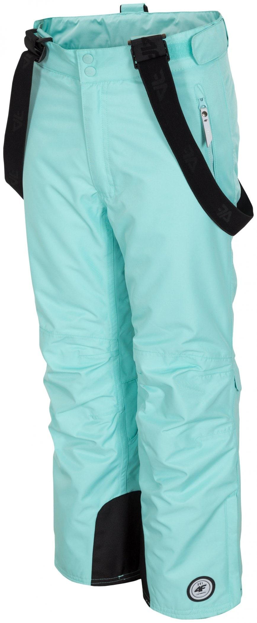 Spodnie narciarskie dla dużych dziewcząt JSPDN402z miętowy