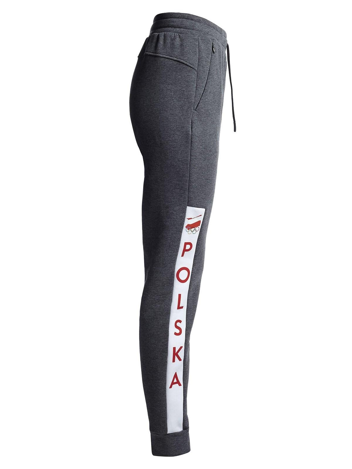 Spodnie dresowe damskie Polska Pyeongchang 2018 SPDD901 - szary melanż