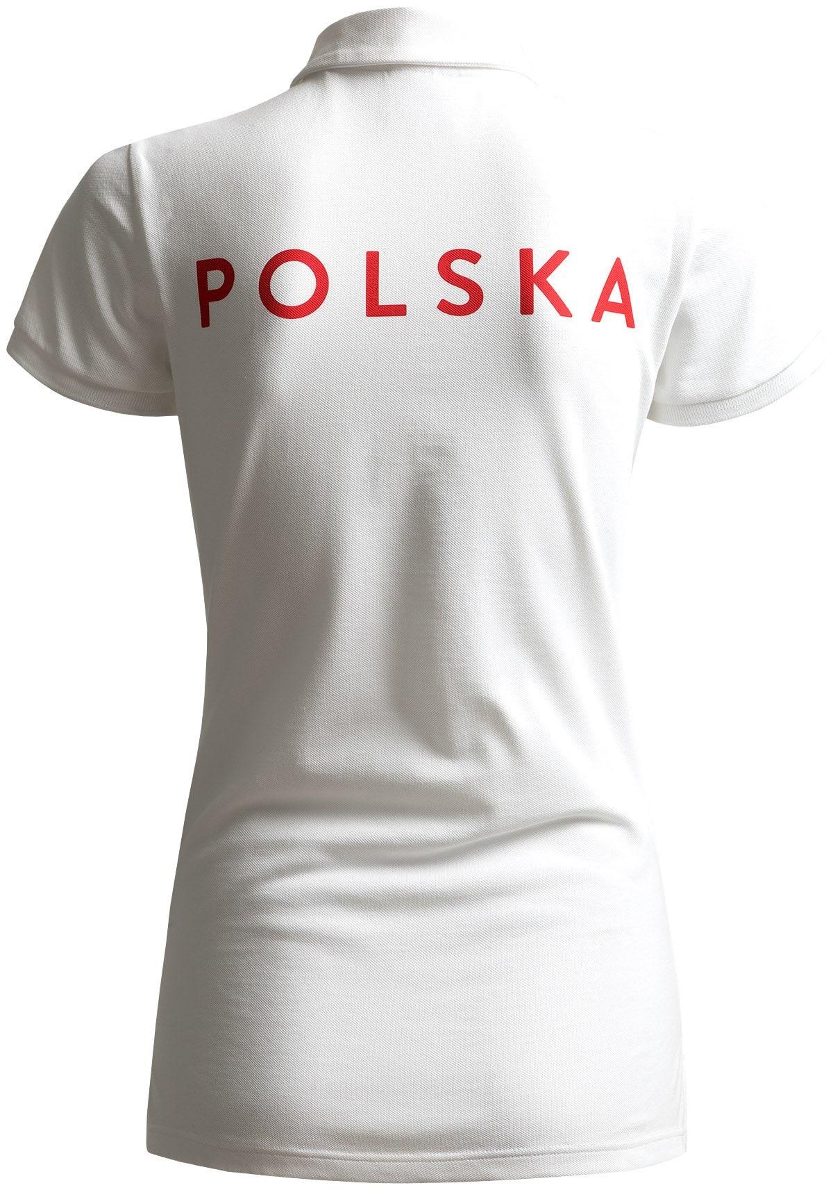 aeb75b551 Koszulka polo damska Polska Pyeongchang 2018 TSD211 - BIAŁY