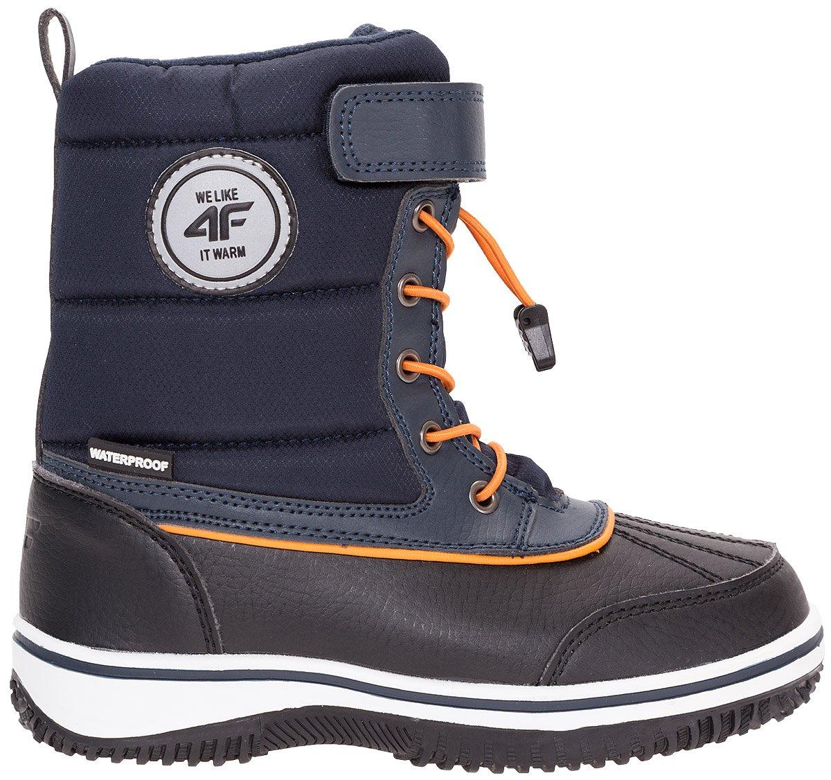 Buty zimowe dla małych chłopców JOBMW304Z granatowy