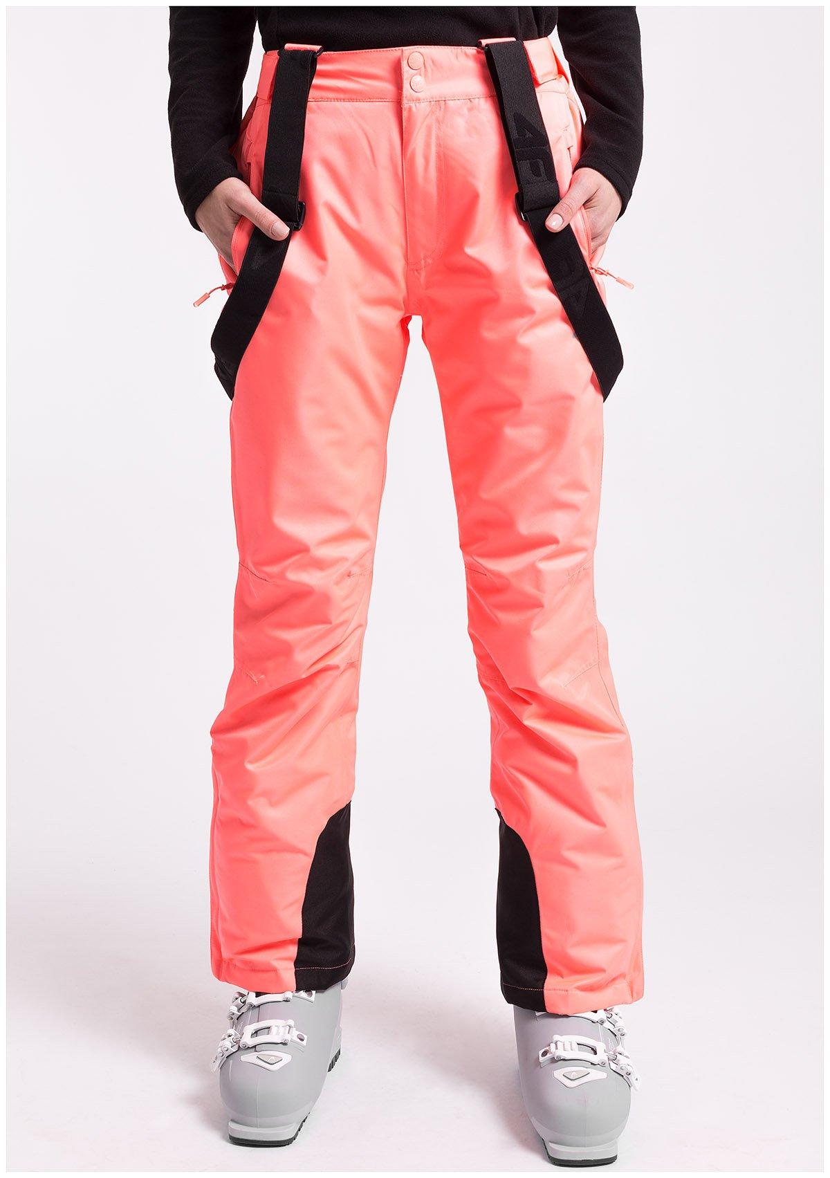 Spodnie narciarskie damskie SPDN351z koralowy