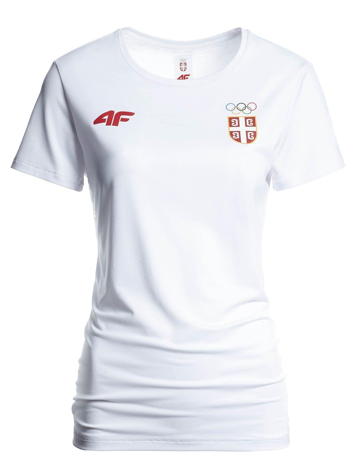 Koszulka funkcyjna damska Serbia Pyeongchang 2018 TSDF700 - biały