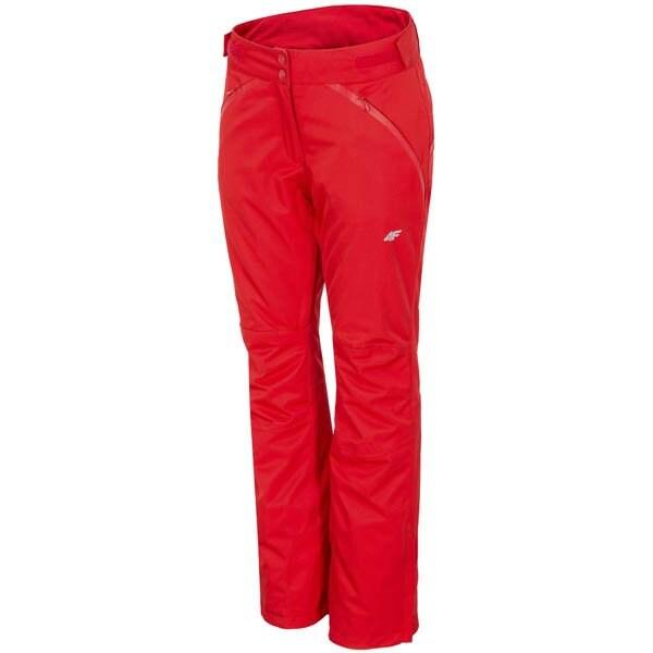 Spodnie narciarskie damskie SPDN152z - czerwony wiśniowy