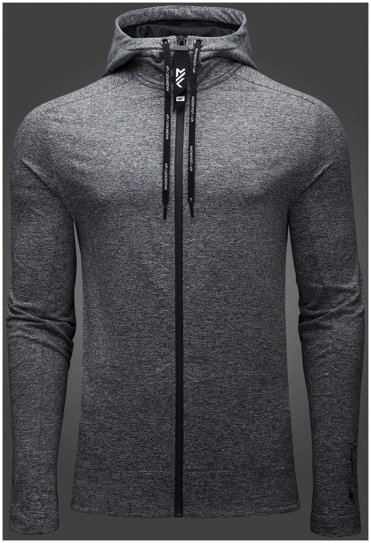 Bluza męska Maciek Kot Collection BLM500 szary melanż
