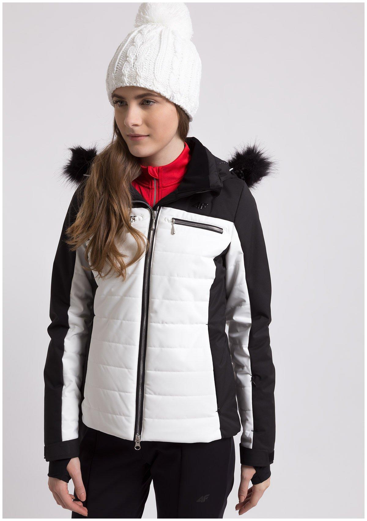Kurtka narciarska damska KUDN151 - biały