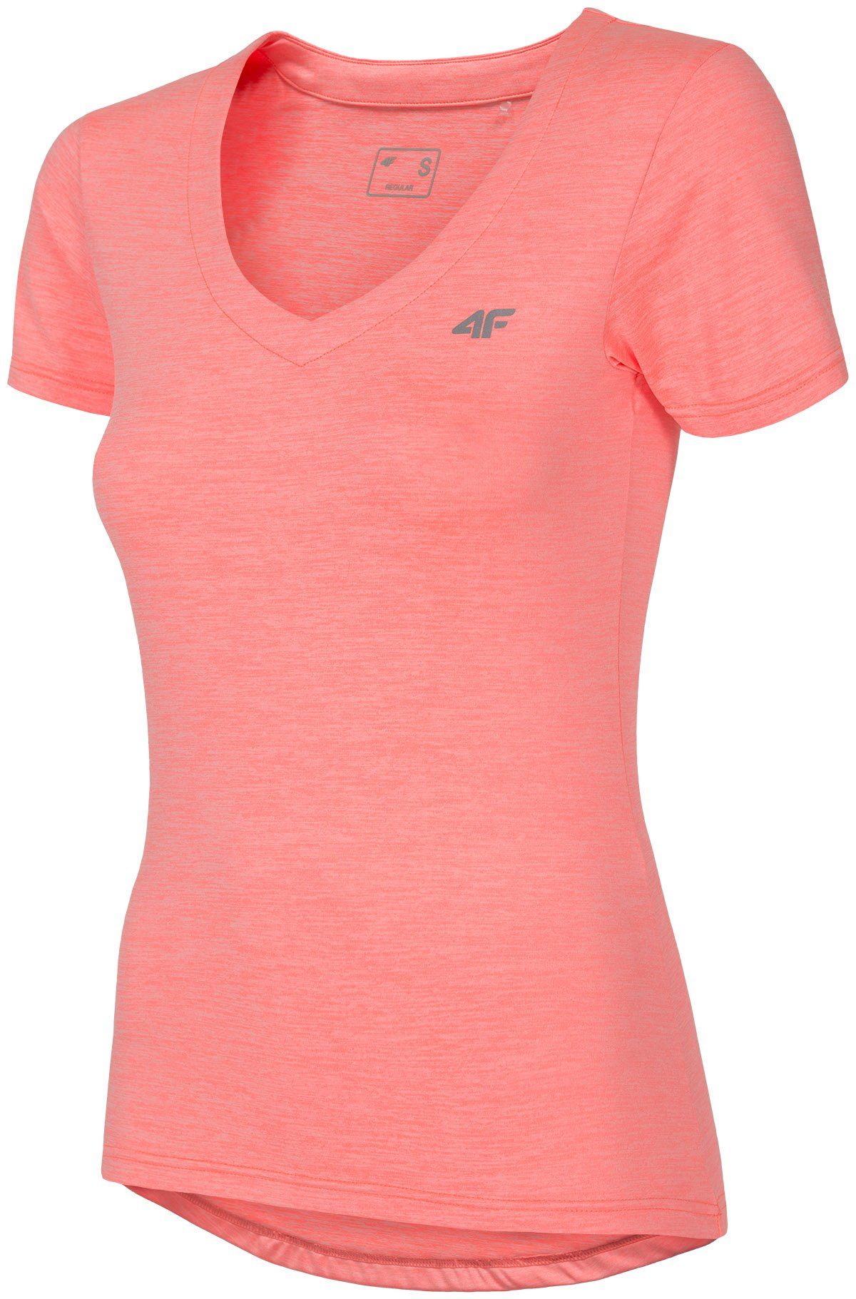 Koszulka treningowa damska TSDF300 - koral melanż