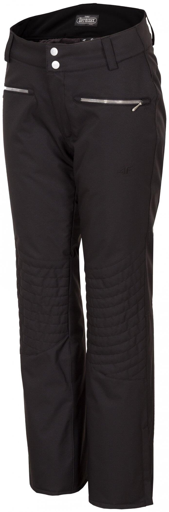 Spodnie narciarskie damskie SPDN151z - czarny