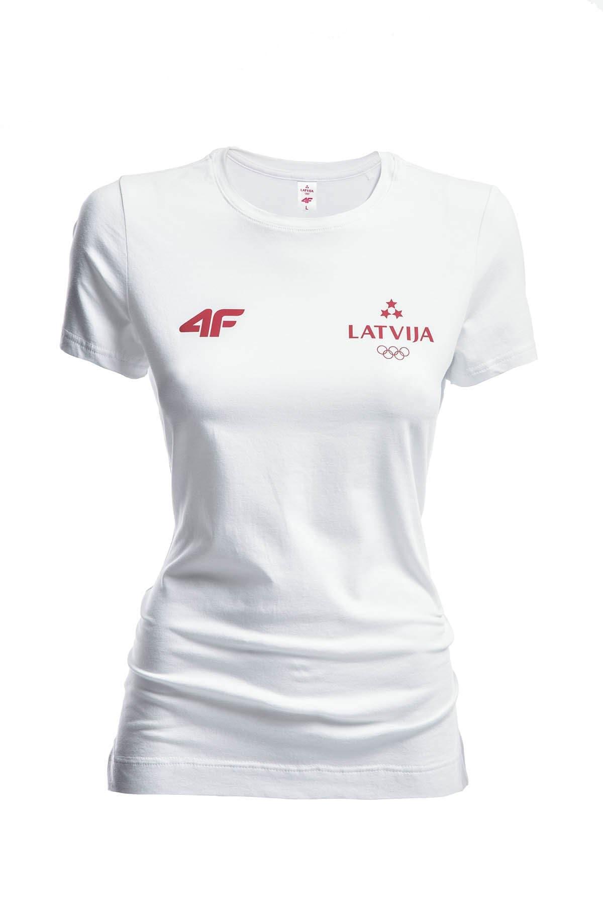 Koszulka damska Łotwa Pyeongchang 2018 TSD800 - biały