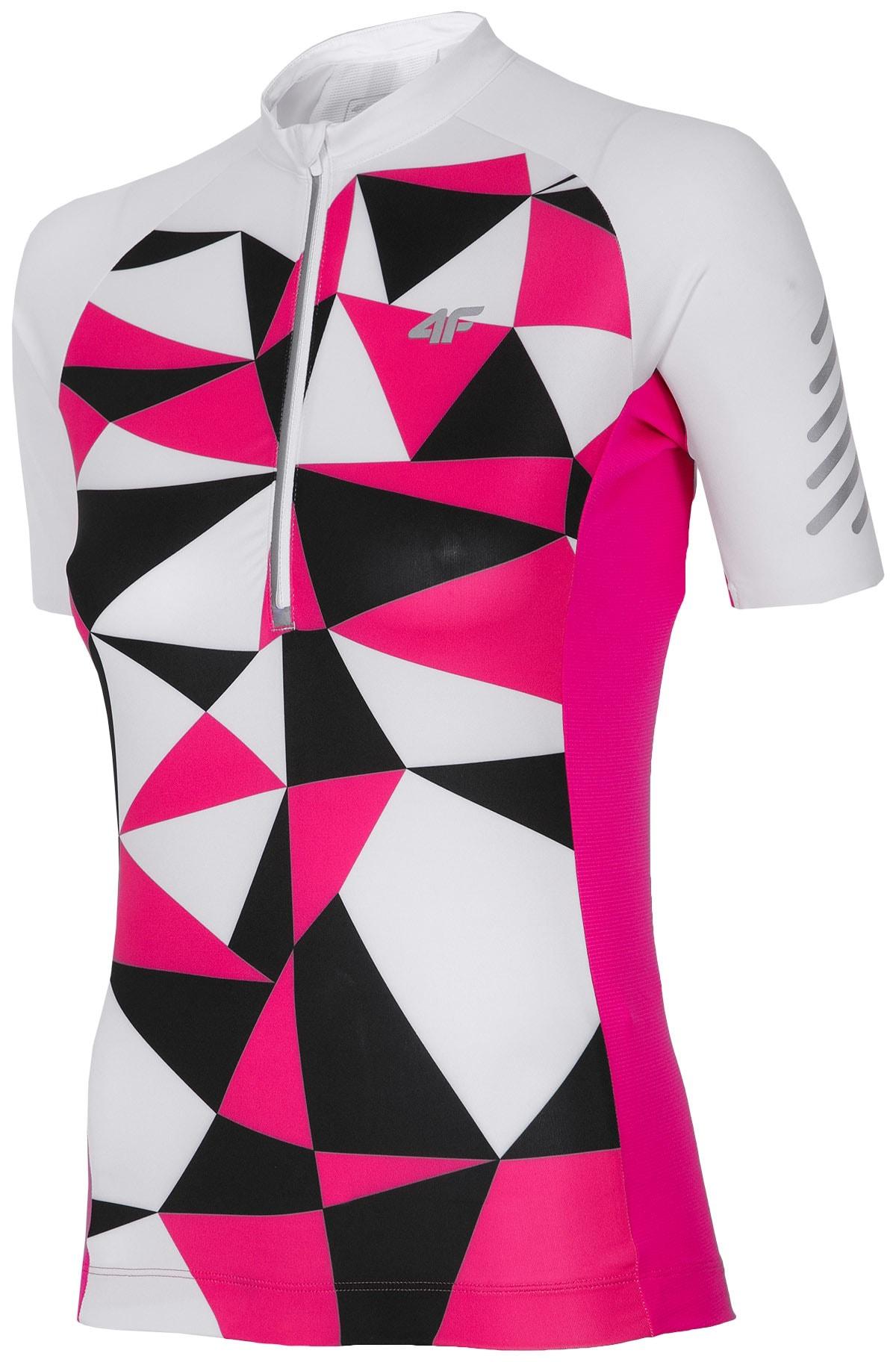 Koszulka rowerowa damska RKD152A - biały