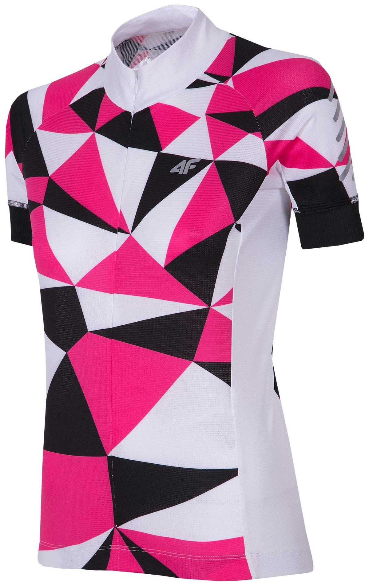 Koszulka rowerowa damska RKD153 - różowy