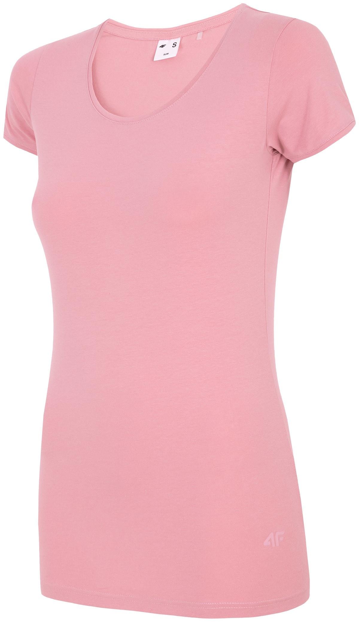 T-shirt damski TSD300A - pudrowy koral