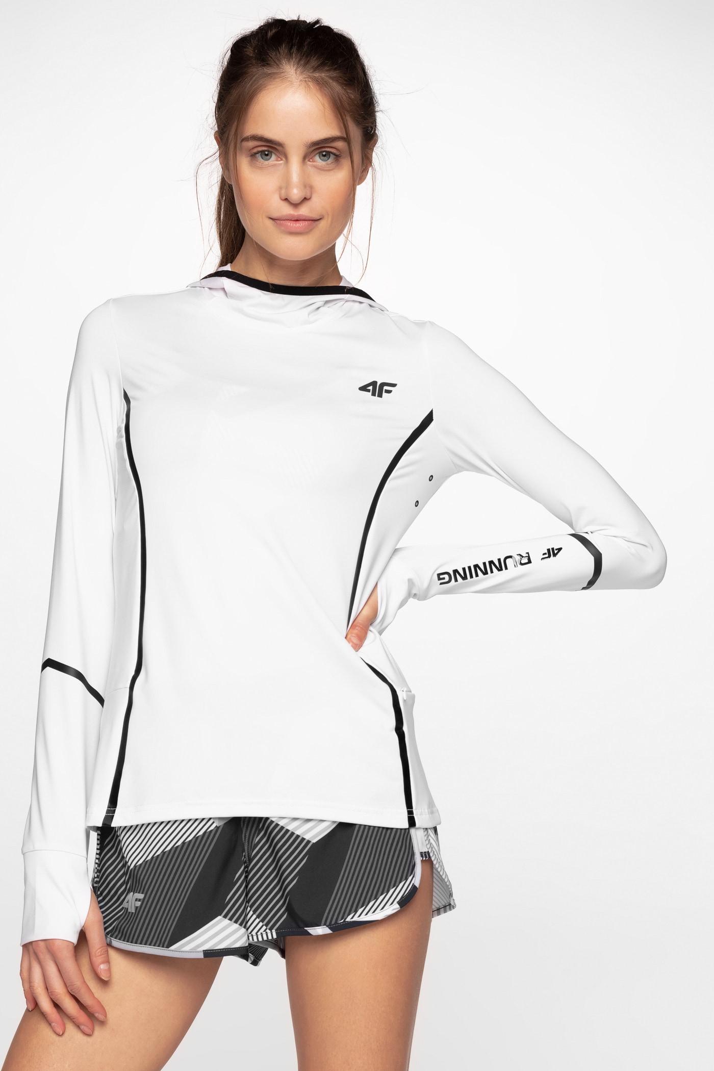 Bluza do biegania damska BLDF101 - biały