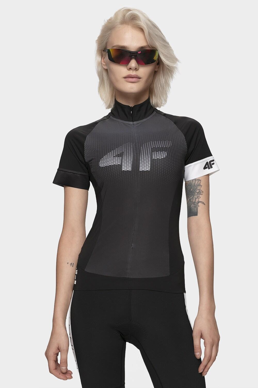 Koszulka rowerowa damska RKD151 - głęboka czerń
