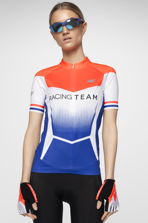 Koszulka rowerowa damska RKD154 - multikolor allover