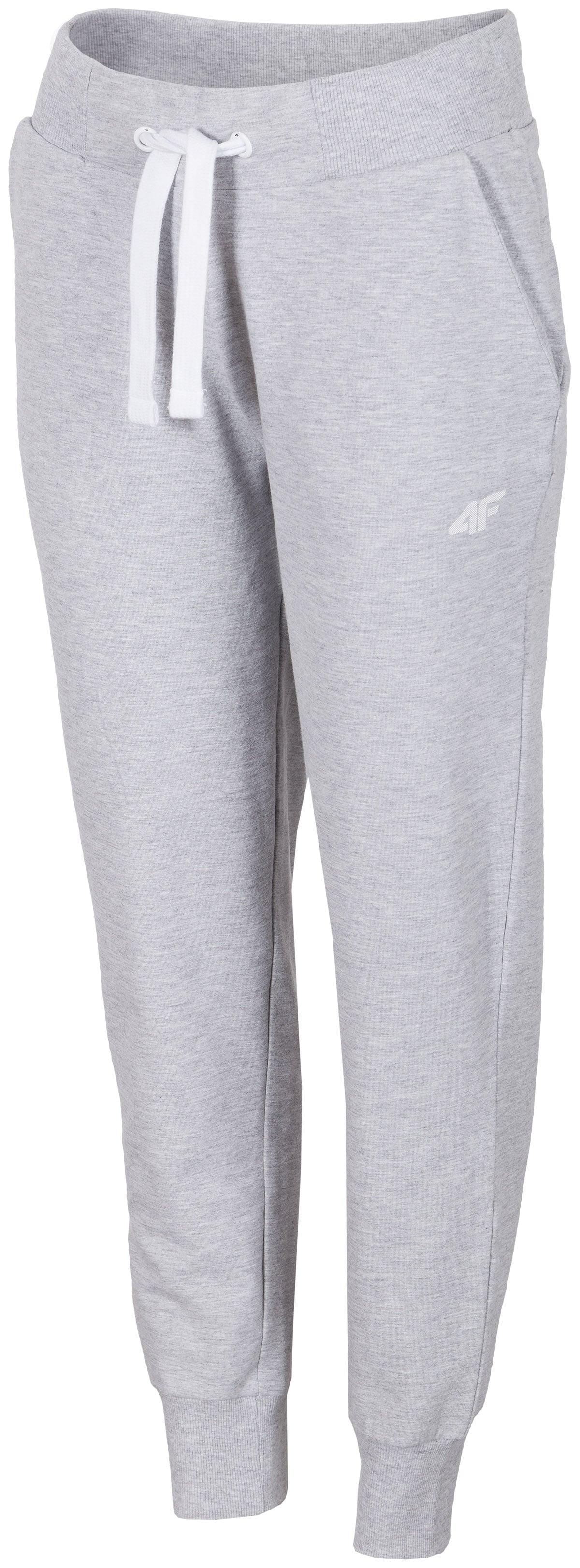 03fe062159 Spodnie dresowe damskie SPDD300 - chłodny jasny szary melanż