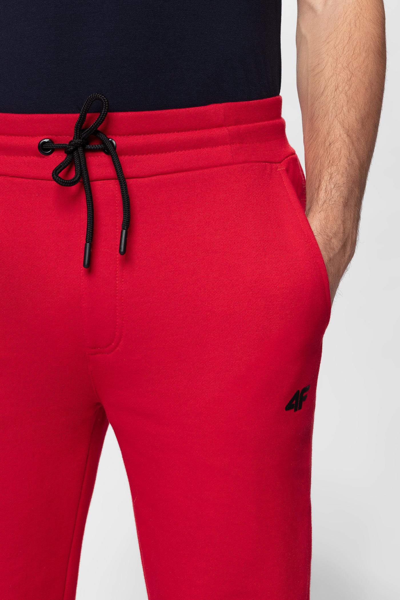 Spodnie dresowe męskie SPMD301 - czerwony