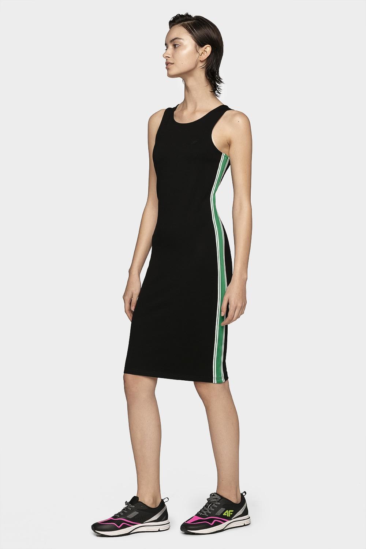 621a840a6 Sukienka dresowa damska SUDD400A - głęboka czerń
