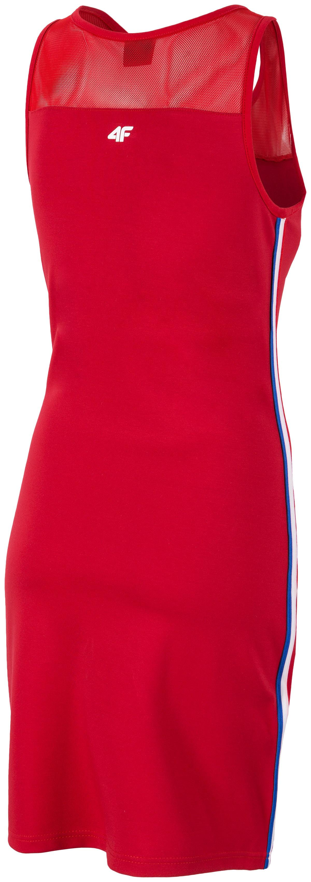 Sukienka dresowa damska SUDD410 CZERWONY
