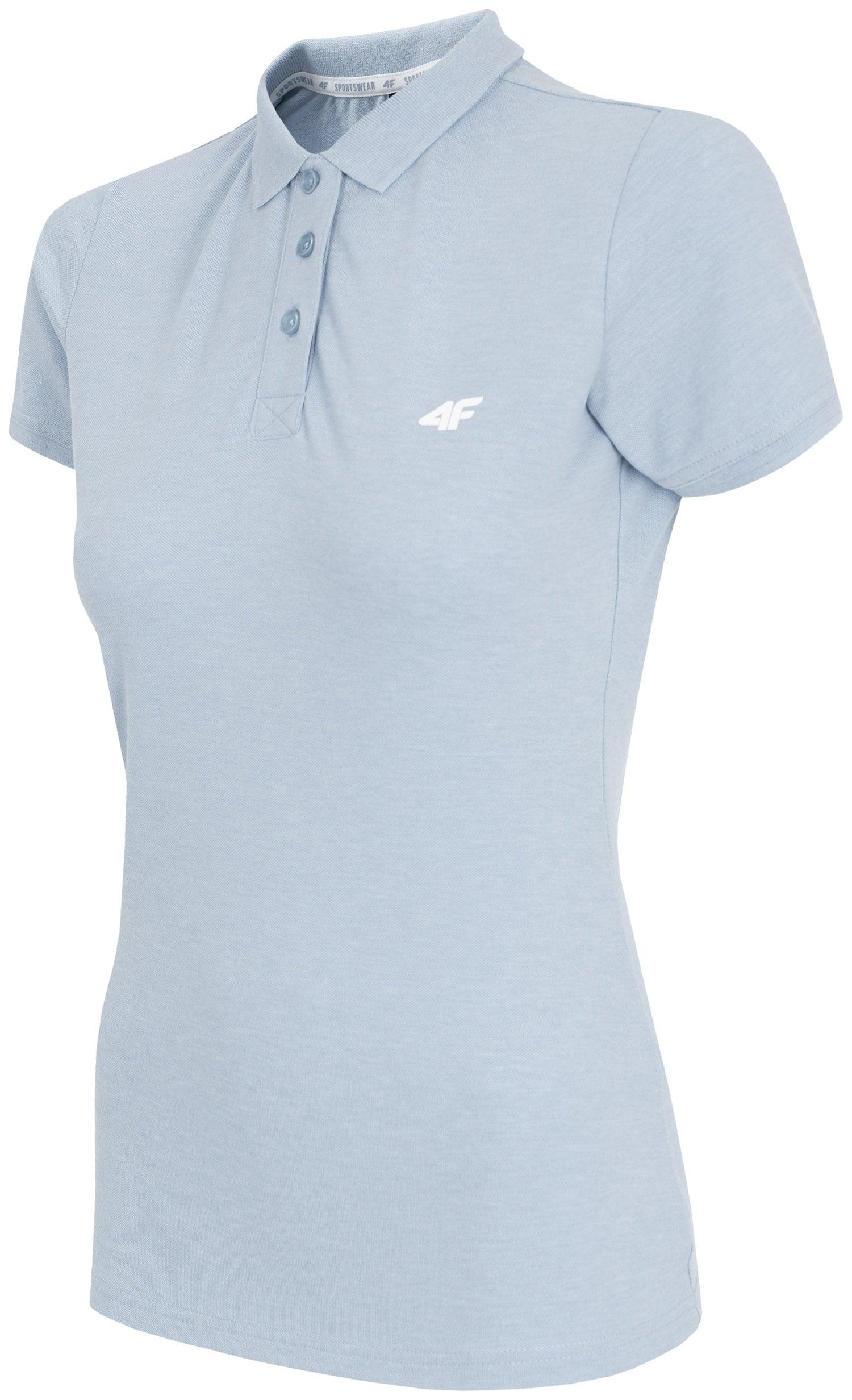 Koszulka polo damska TSD404 - jasny niebieski melanż