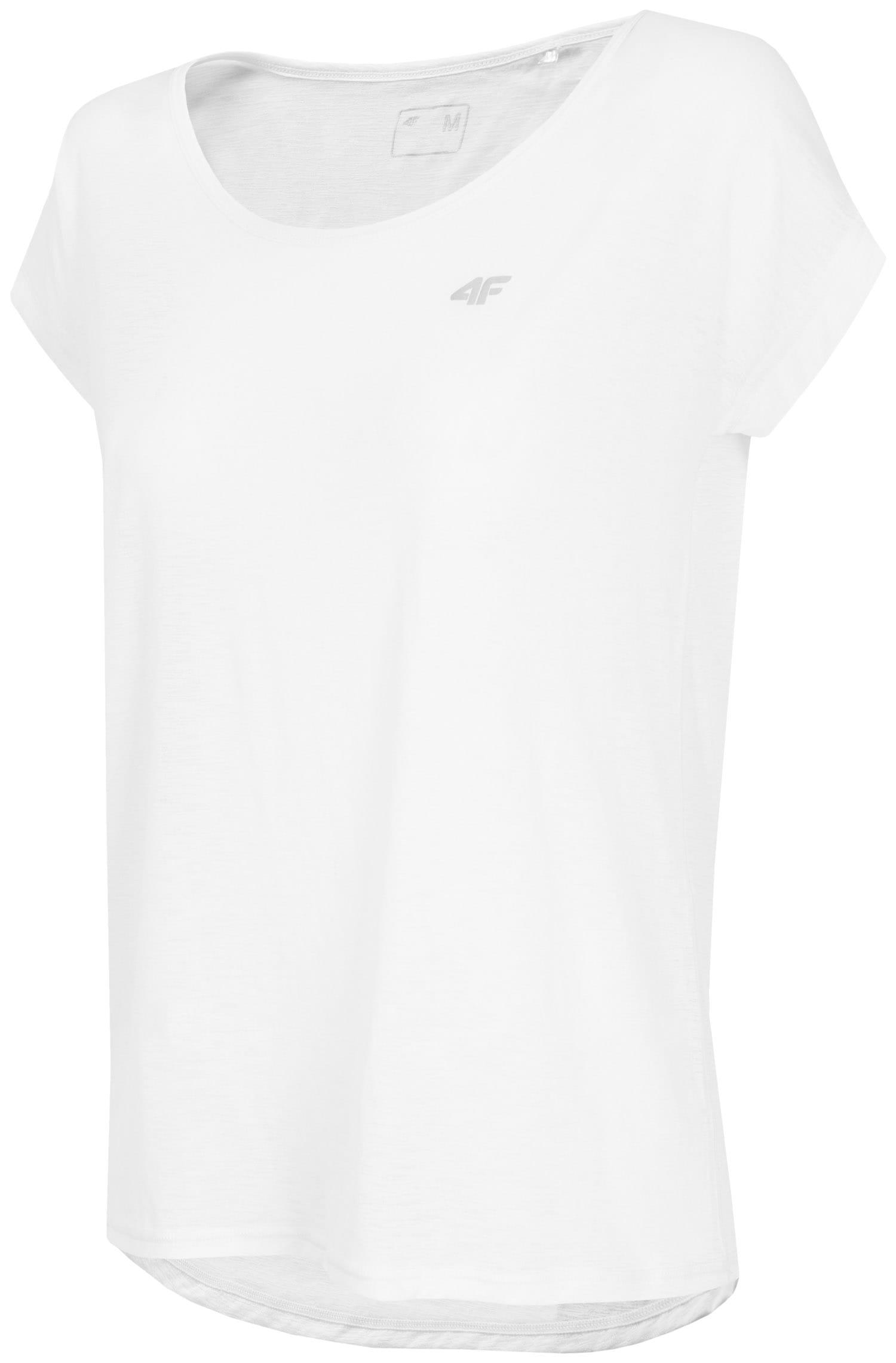 Koszulka treningowa damska TSDF275 - biały melanż
