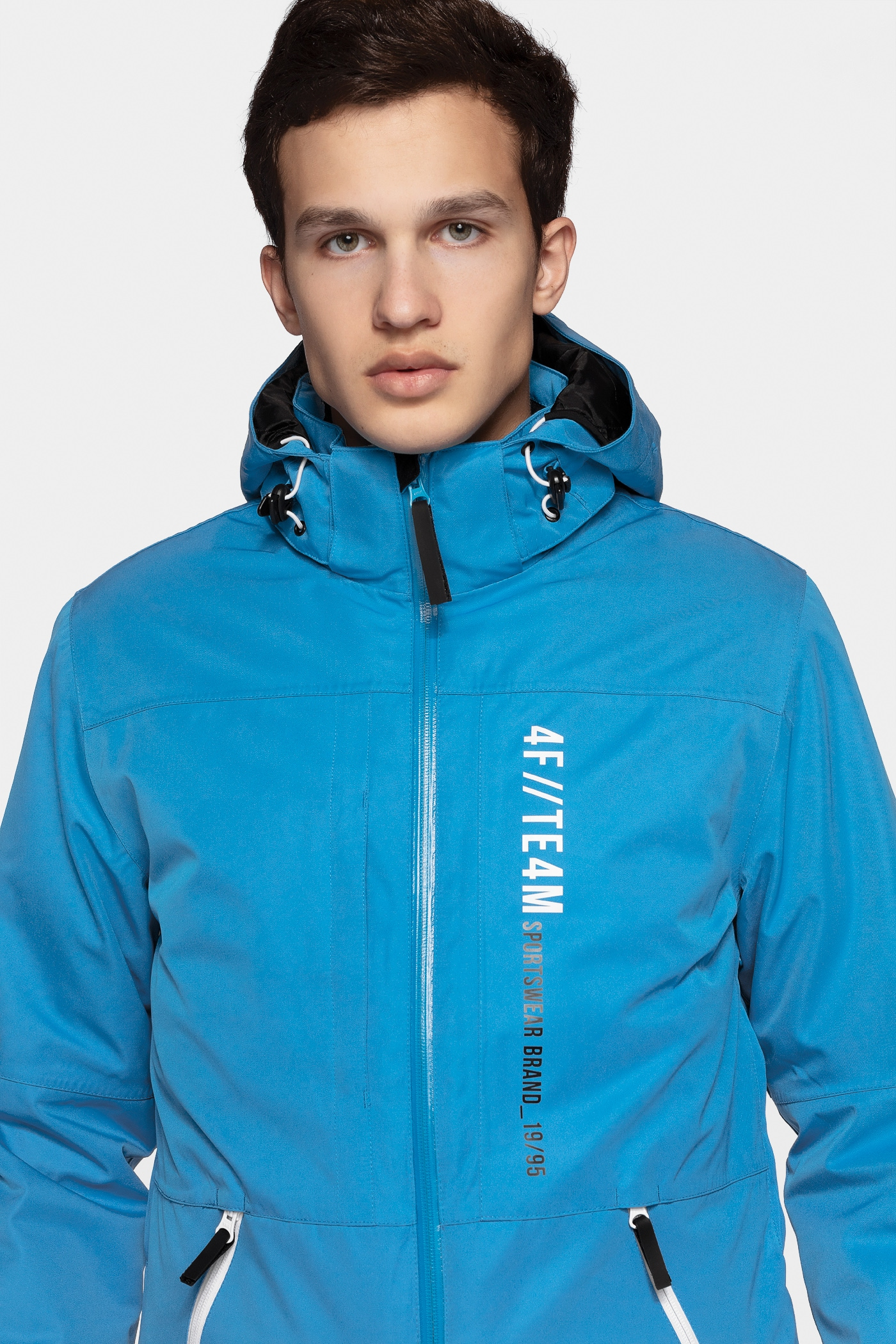 383175a5d4 Kurtka narciarska męska KUMN552R - niebieski Kurtki narciarskie i ...