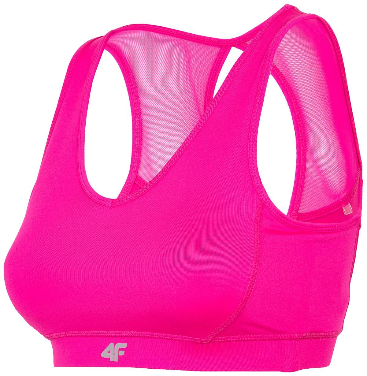 Biustonosz sportowy STAD300 - różowy neon