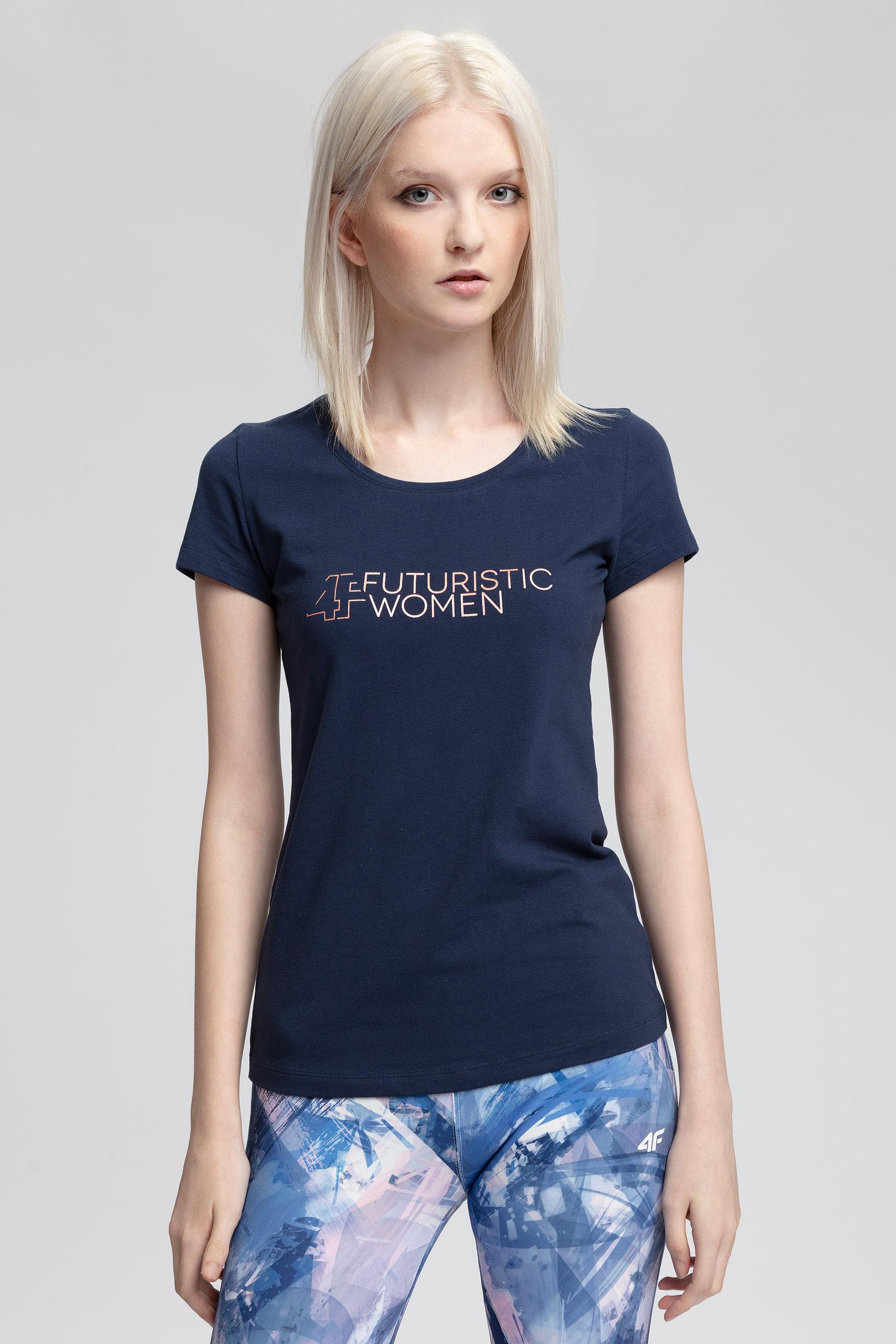 T-shirt damski TSD403 - ciemny granat
