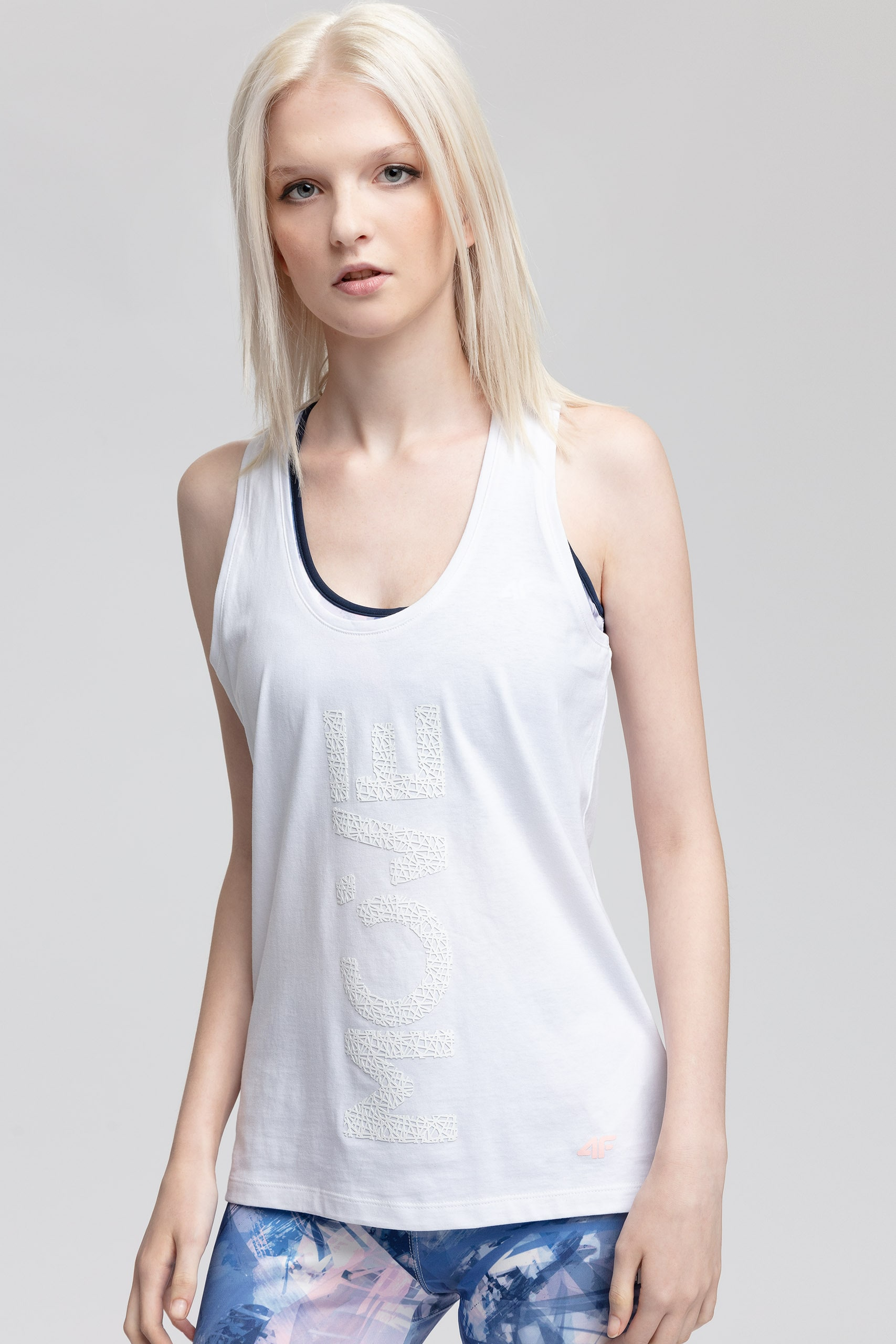 T-shirt damski TSD406 - biały