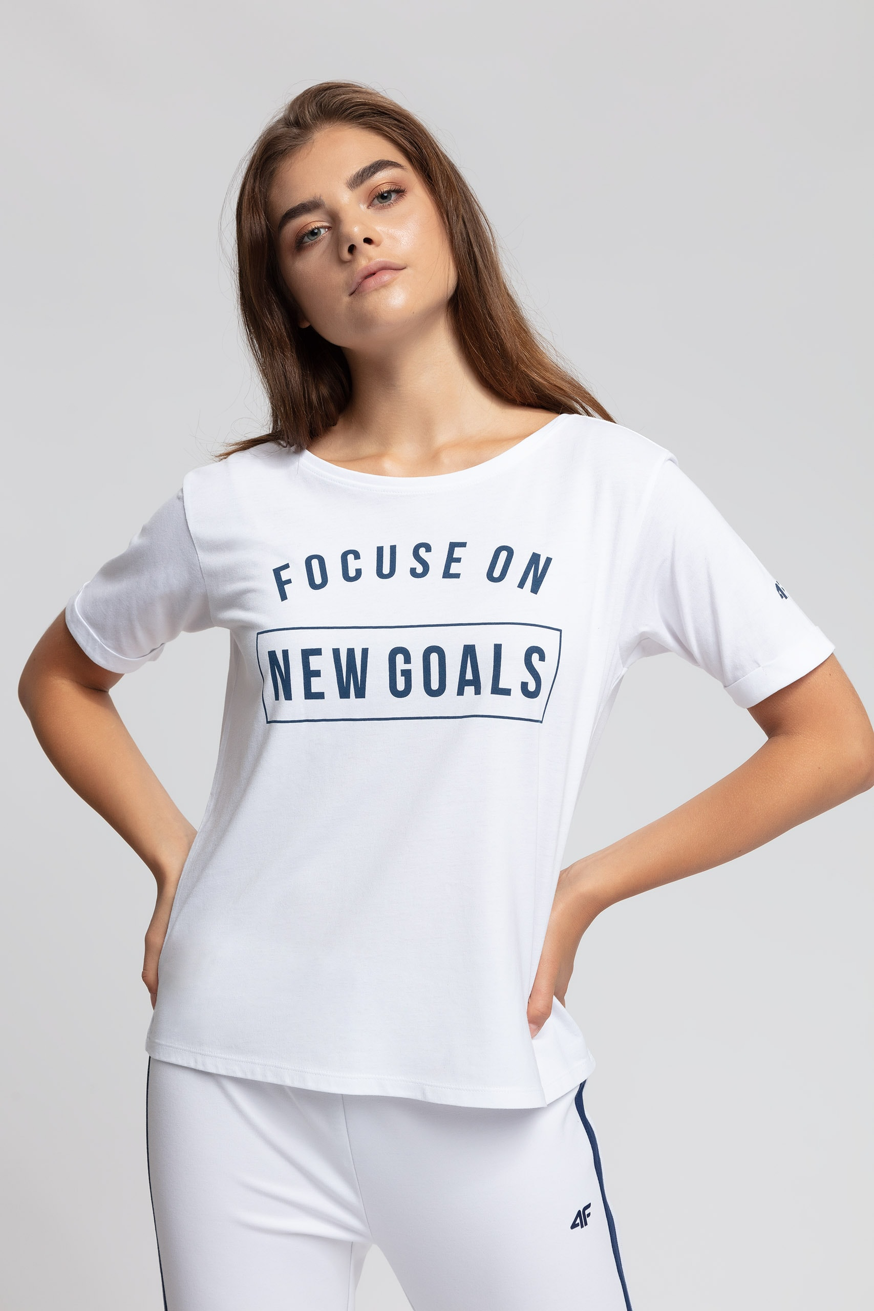 T-shirt damski TSD416 - biały