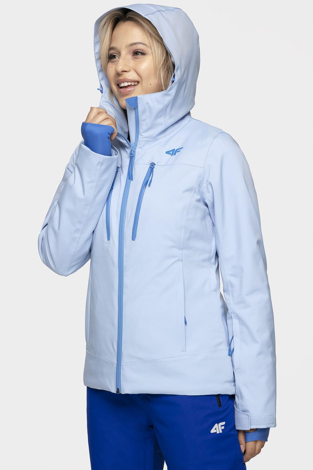 Kurtka narciarska damska KUDN251A - jasny niebieski