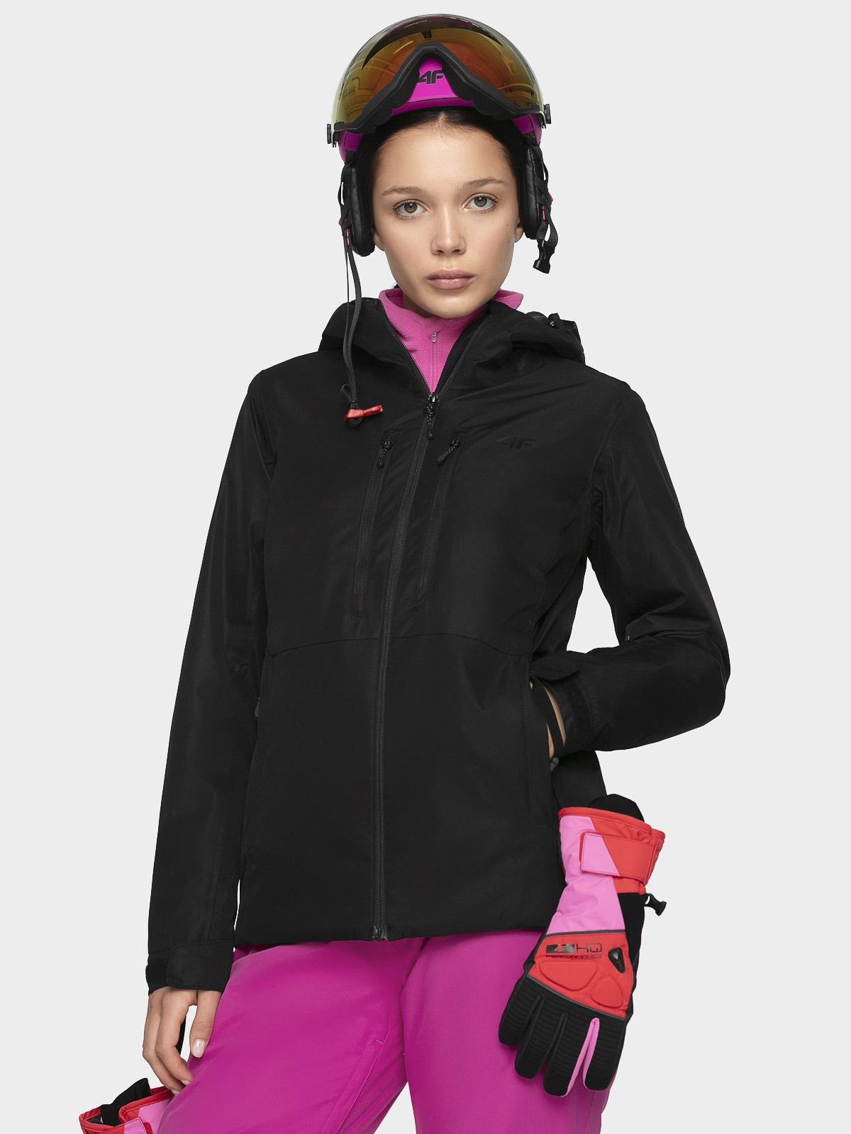 Dámská lyžařská bunda KUDN301 - hluboce černá -