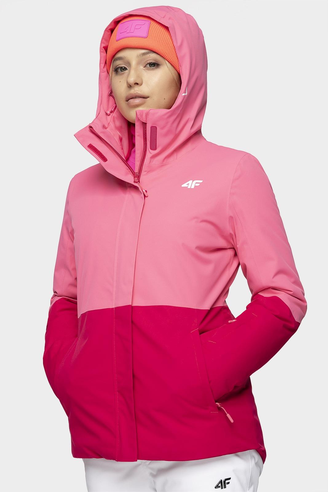 Kurtka narciarska damska KUDN302 - ciemny róż