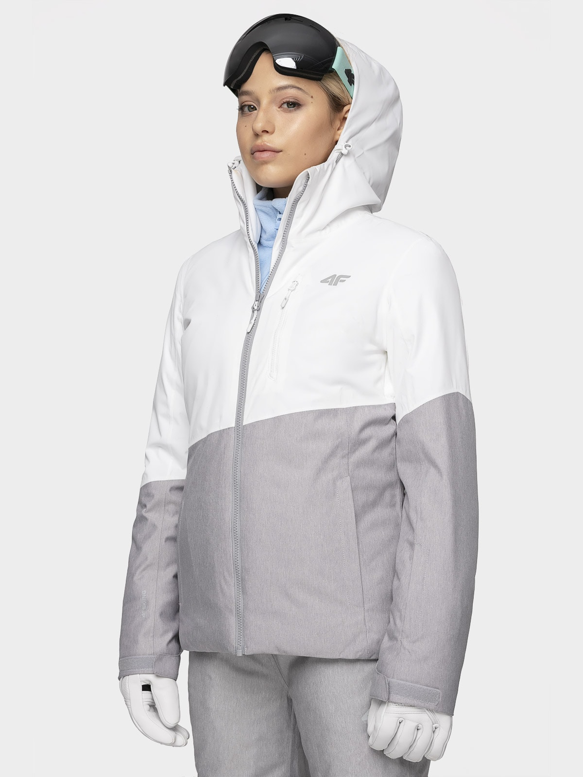 Kurtka narciarska damska KUDN303 - biały