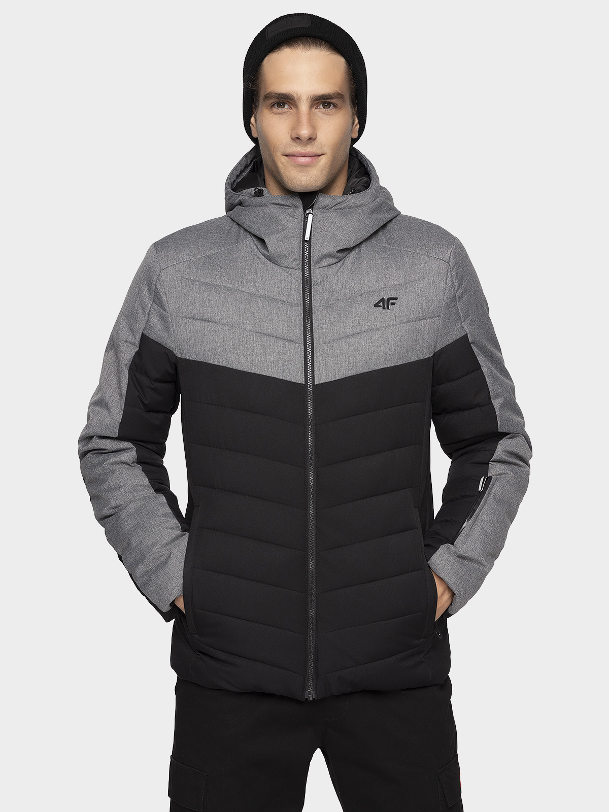 Jachetă pentru bărbați KUMP205 - negru intens