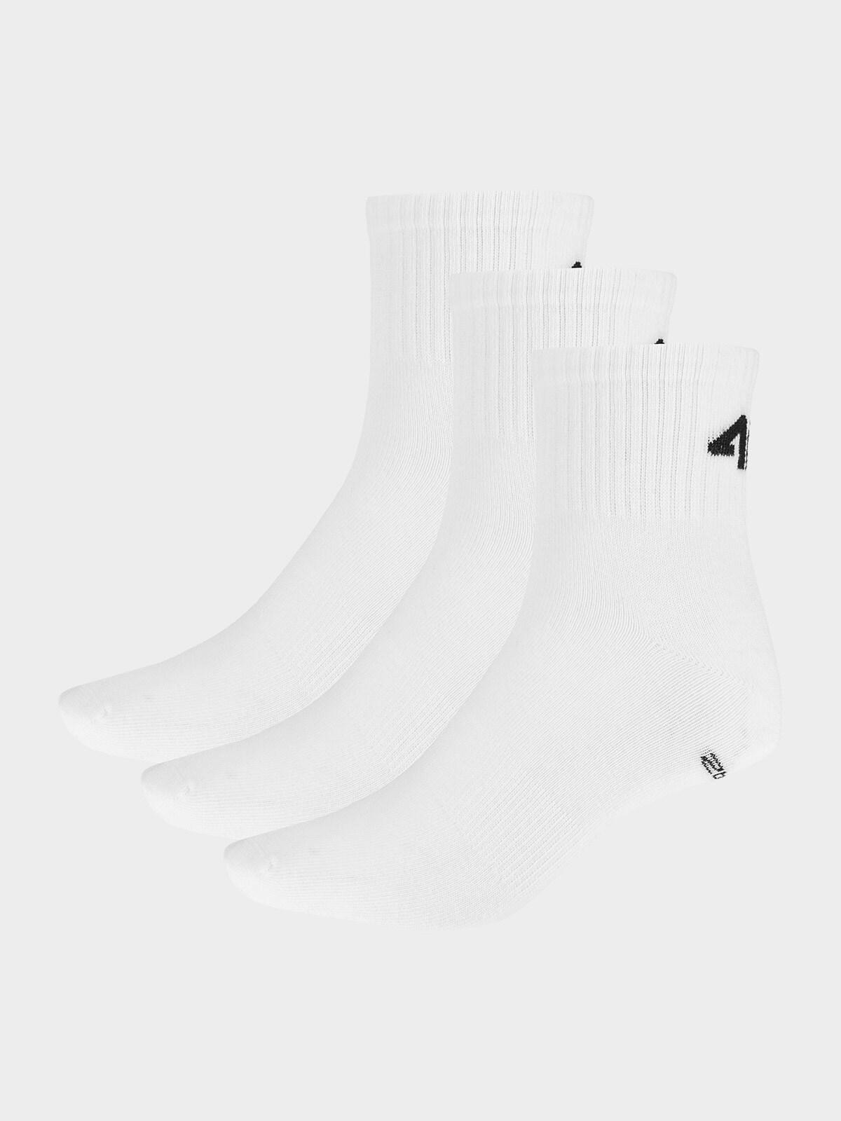 Dámské ponožky SOD303 - bílé+bílé+bílé -