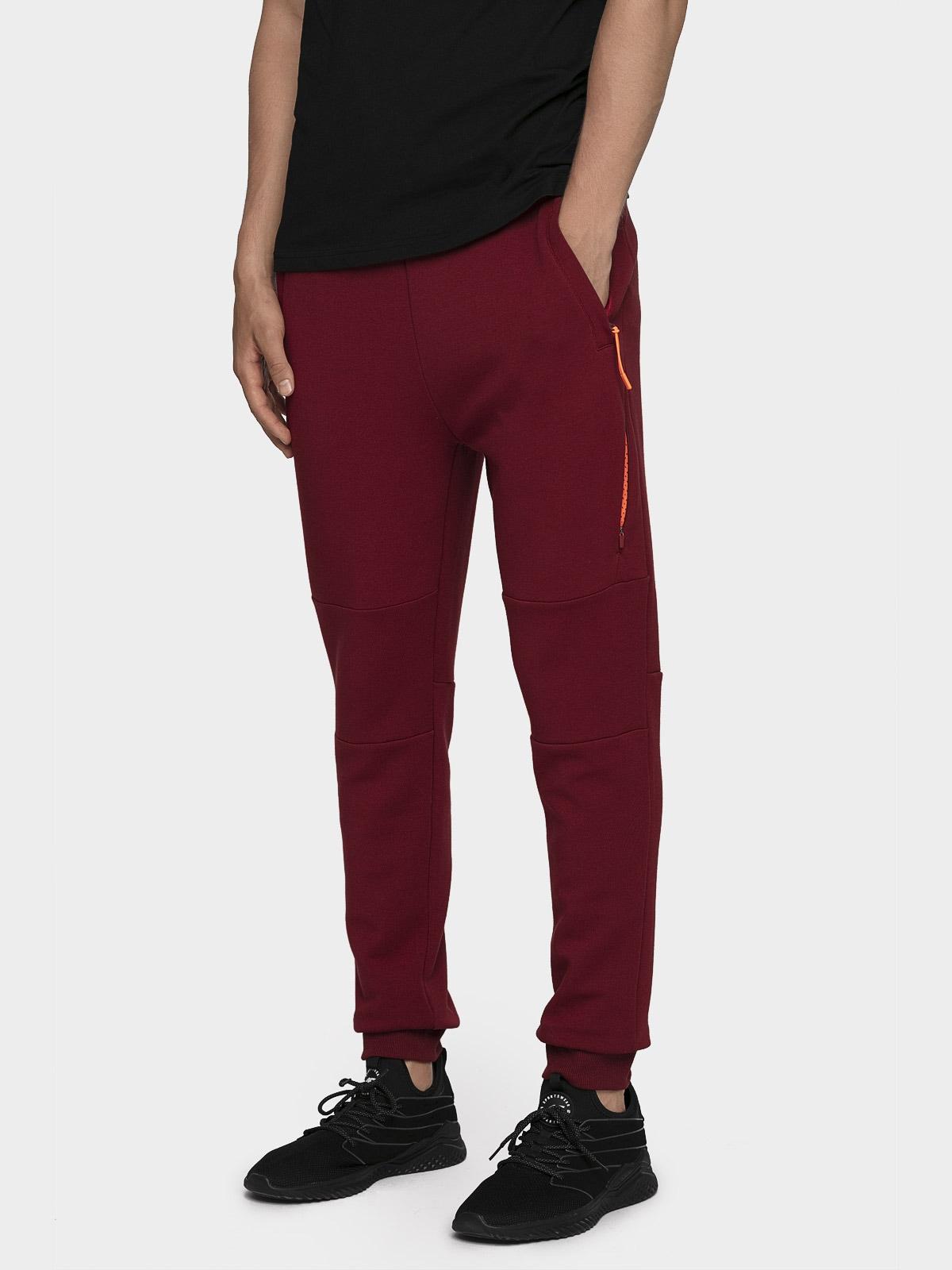 Pantaloni de molton pentru bărbați SPMD204 - roșu burgund