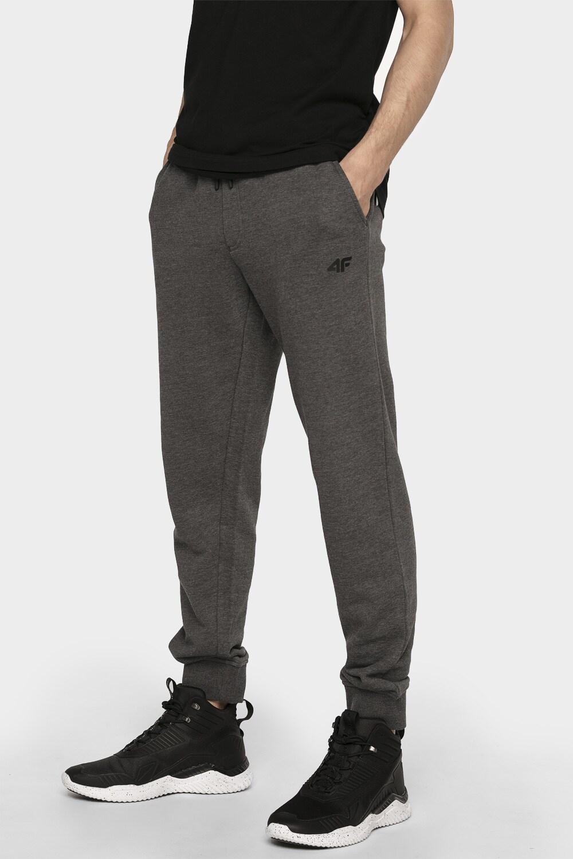 Spodnie dresowe męskie SPMD300 - ciemny szary melanż