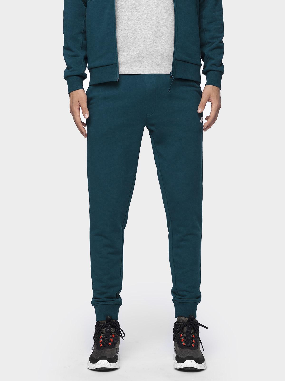 Spodnie dresowe męskie SPMD300 - denim