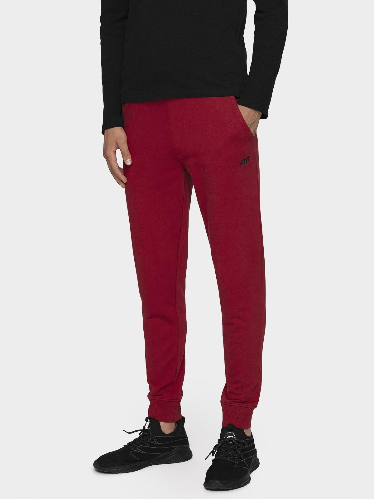 Spodnie dresowe męskie SPMD300 - ciemna czerwień