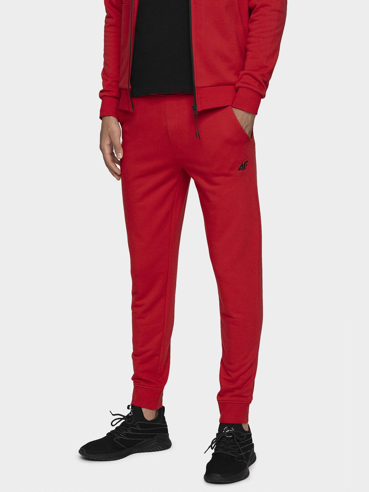 Spodnie dresowe męskie SPMD300 - czerwony