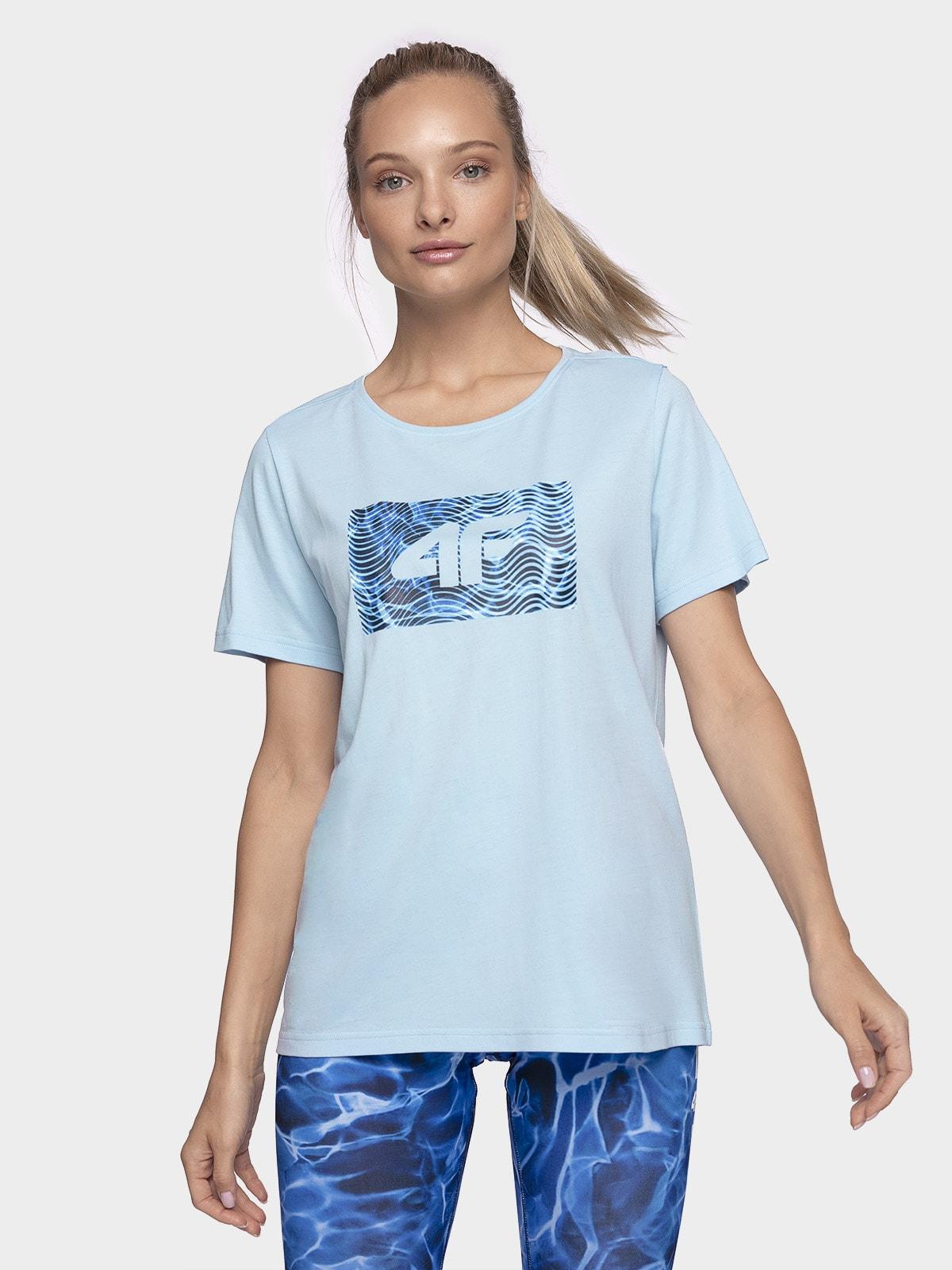 T-shirt damski TSD206 - jasny niebieski